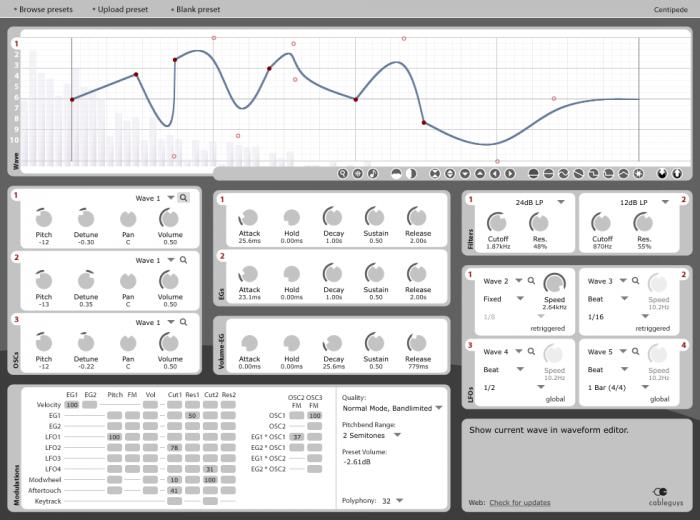 Cableguys Curve, waveform editor