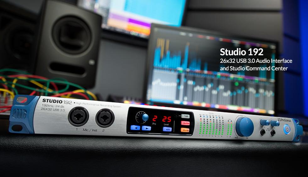 presonus studio 192 usb 3 0 audio interface introduced. Black Bedroom Furniture Sets. Home Design Ideas