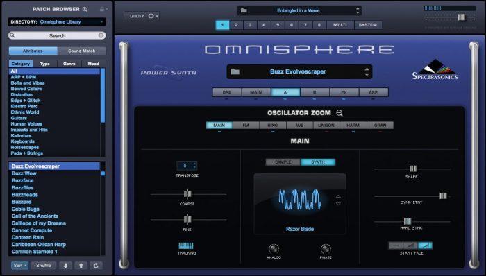 spectrasonics Omnisphere 2 osc zoom