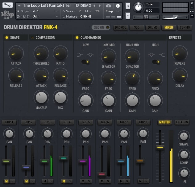 The Loop Loft Drum Direktor FNK-4 Mixer