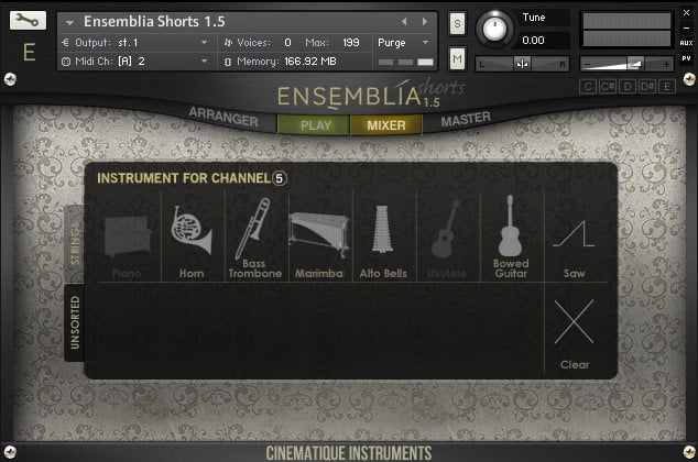 Cinematique Instruments Ensemblia 1.5 mixer