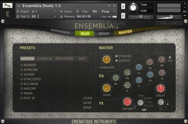 Cinematique Instruments Ensemblia 1.5