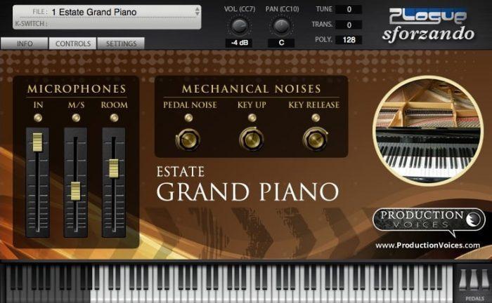 Production Voices Estate Grand Piano for sforzando