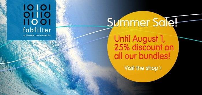 FabFilter Summer Sale 2016