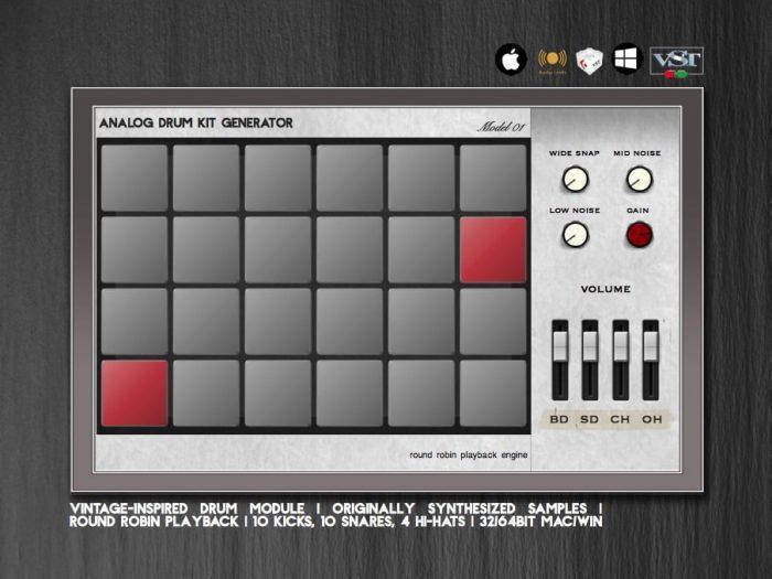 Greynote Music Analog Drum Kit
