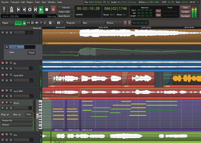Harrison Mixbus 3 track editor