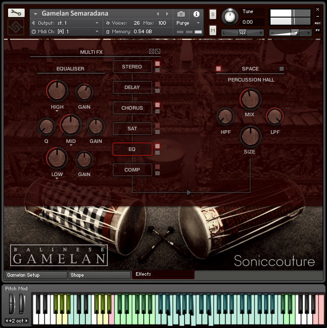 Soniccouture Balinese Gamelan II effects