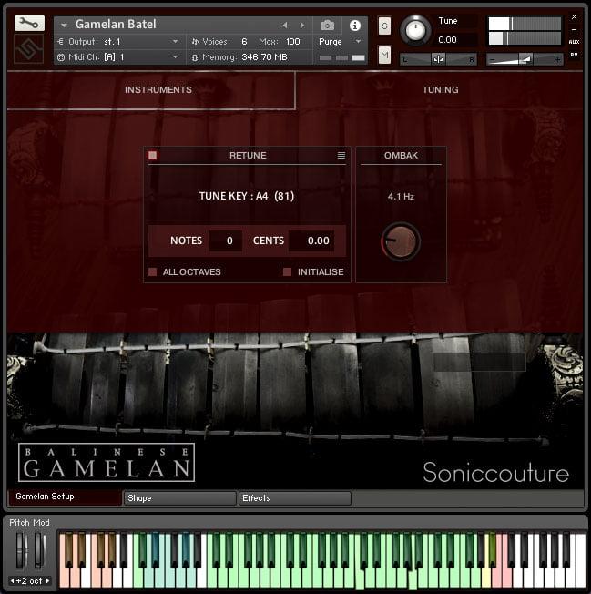 Soniccouture Balinese Gamelan II tuning