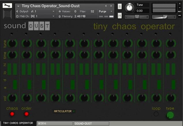 Sound Dust Tiny Chaos Operator