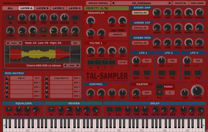 Togu Audio Line TAL-Sampler (red skin)