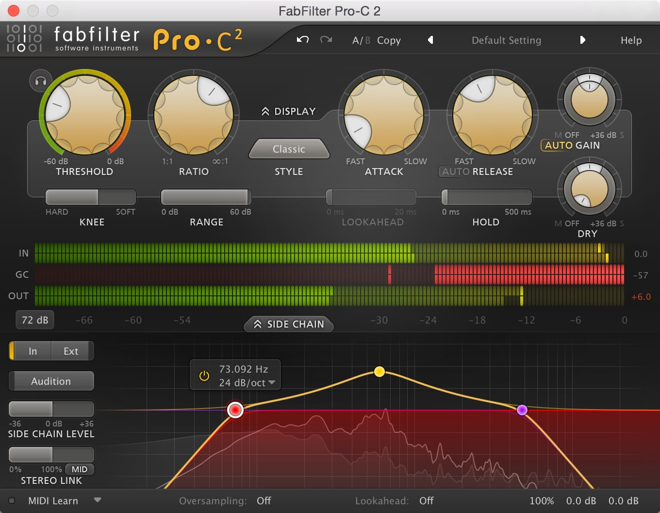 pro c 2 compressor plugin by fabfilter released. Black Bedroom Furniture Sets. Home Design Ideas