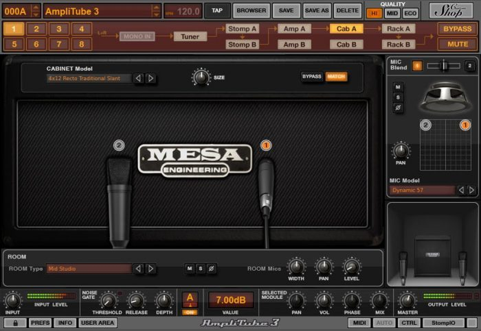IK Multimedia AmpliTube MESA Cab 4x12 recto traditional