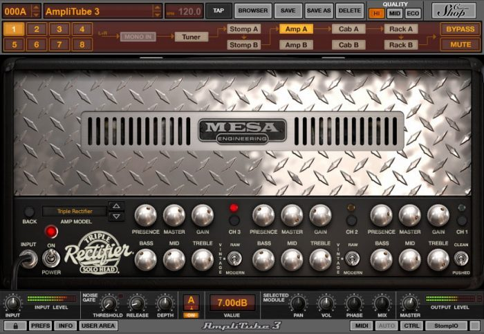 IK Multimedia AmpliTube MESA triple rectifier