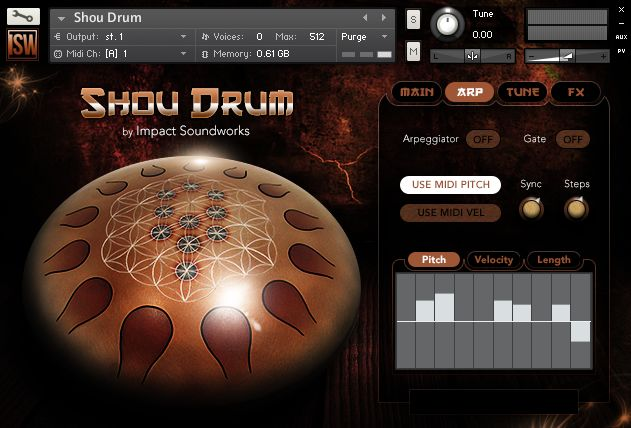 Impact Soundworks Shou Drum arp