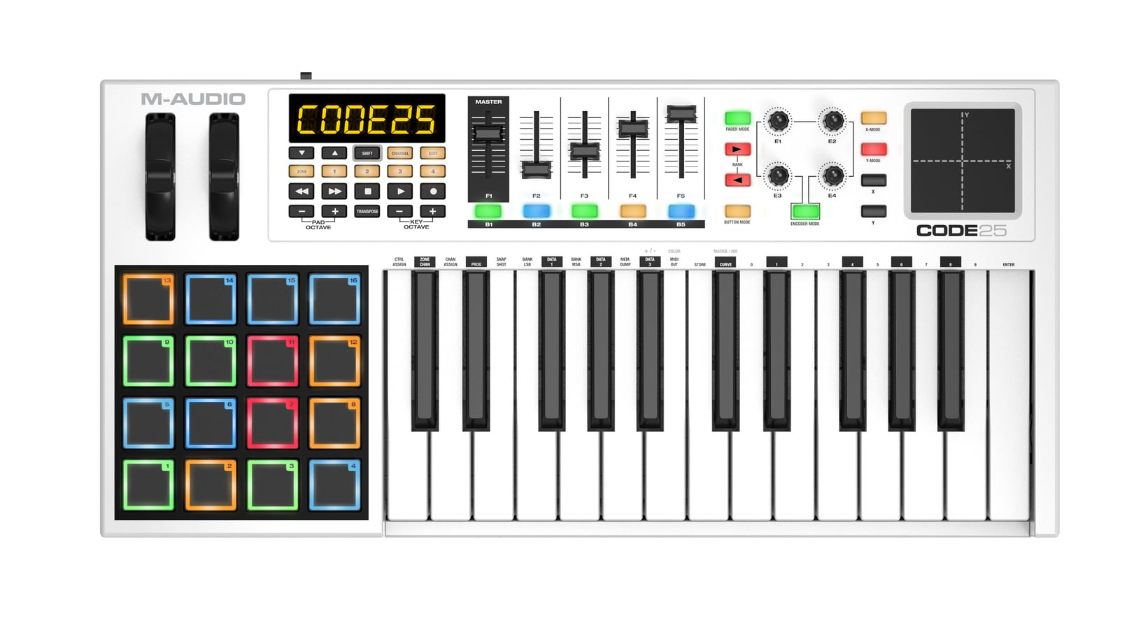 m audio code series keyboards now shipping. Black Bedroom Furniture Sets. Home Design Ideas