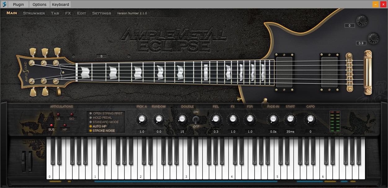 ample metal eclipse ii guitar plugin by ample sound. Black Bedroom Furniture Sets. Home Design Ideas