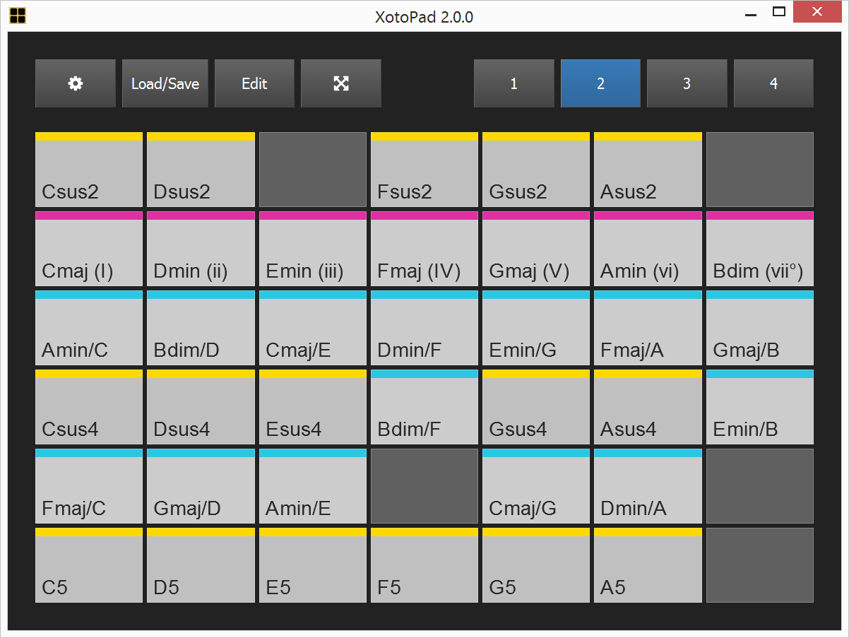 xotopad 2 midi controller software by feelyoursound. Black Bedroom Furniture Sets. Home Design Ideas
