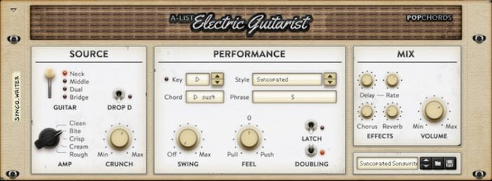 Propellerheads Pop Chords A-List Electric Guitarist