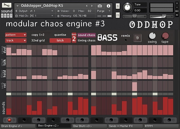 Sound Dust OddHop bass engine