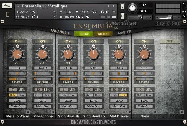 Cinematique Instruments Ensemblia Metallique