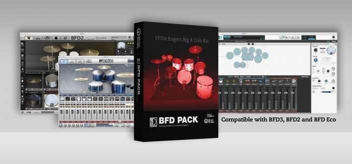 Drumdrops Rogers Big R Dub Kit BFD Pack banner