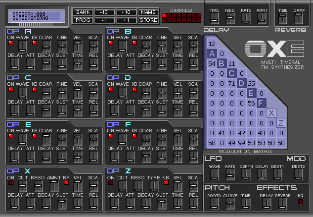 Oxe FM Synth dx7 skin