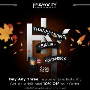 Heavyocity Thanksgiving Sale 2015