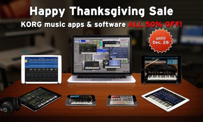 Korg thanksgiving sale