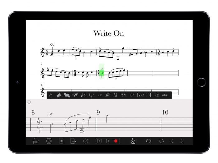PreSonus Notion for iOS Handwriting