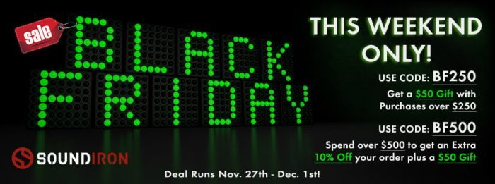 Soundiron Black Friday Sale