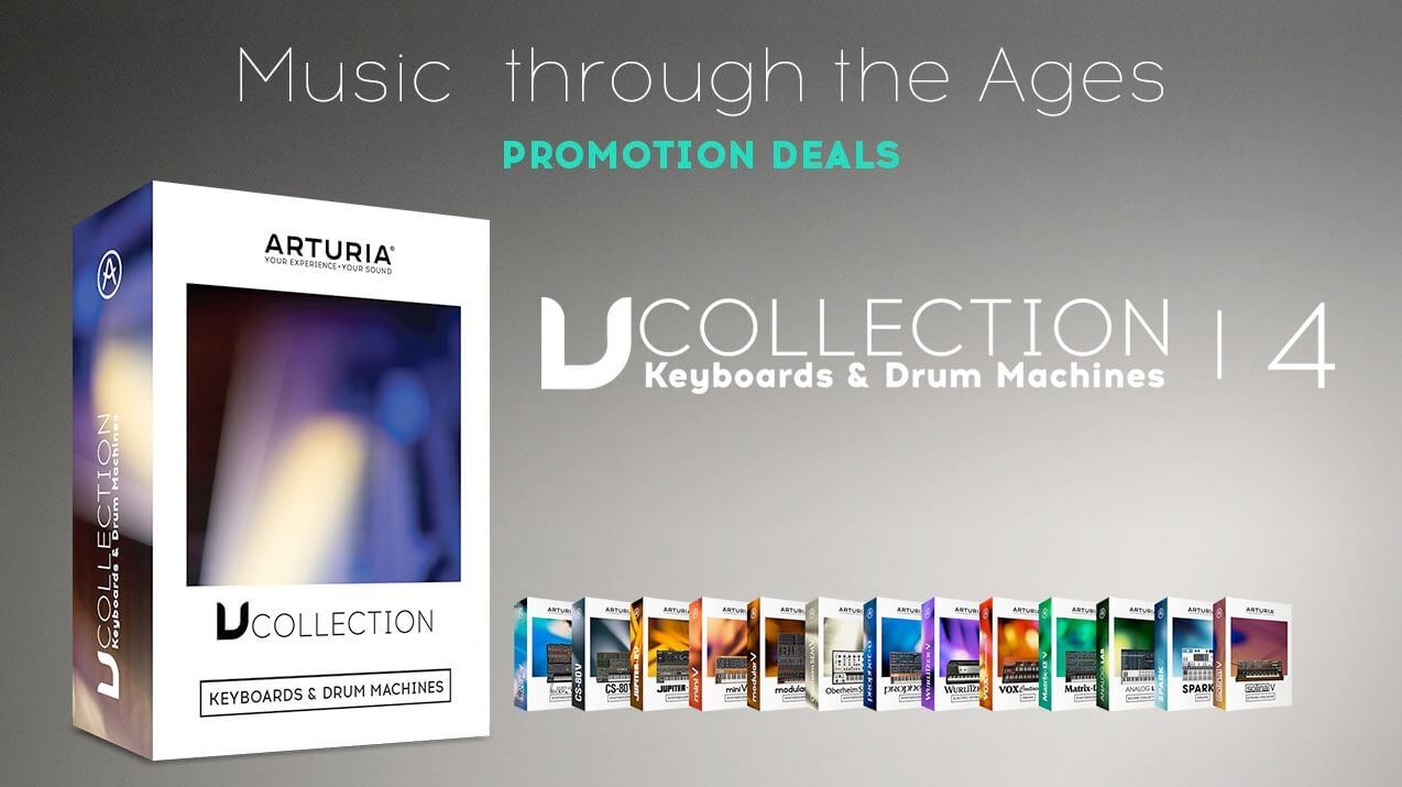 50 off arturia v collection 4 in music through the ages. Black Bedroom Furniture Sets. Home Design Ideas