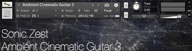 Sonic Zest Ambient Cinematic Guitar 3