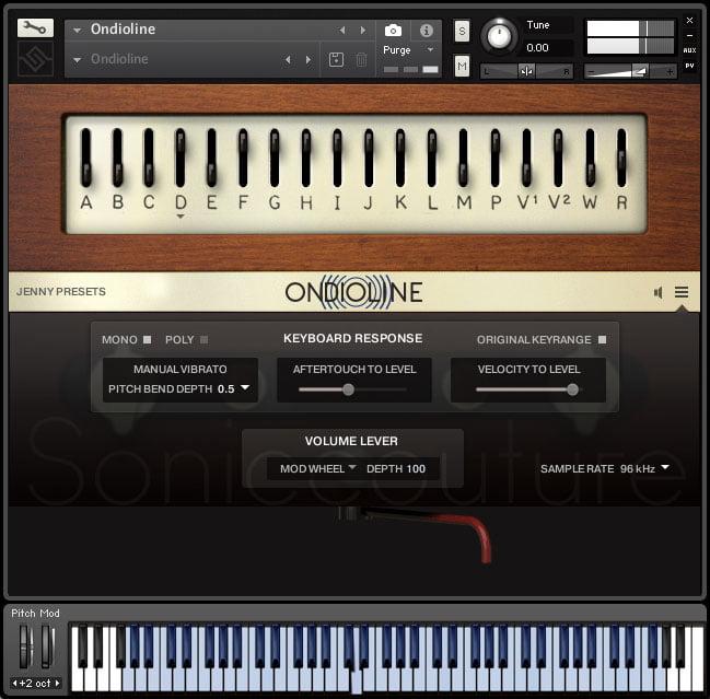 Soniccouture Ondioline options
