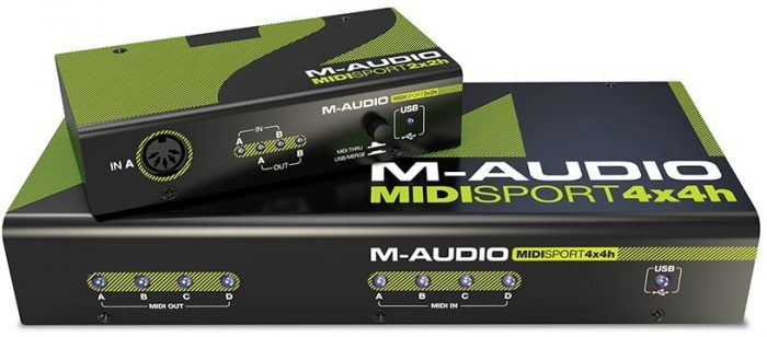 M-Audio MIDISport Hub 2x2 and 4x4
