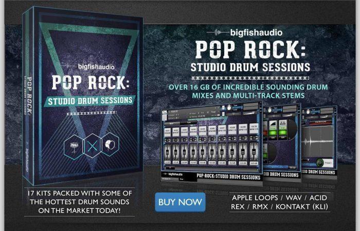 Big Fish Audio Pop Rock Studio Drum Sessions