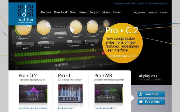 FabFilter website