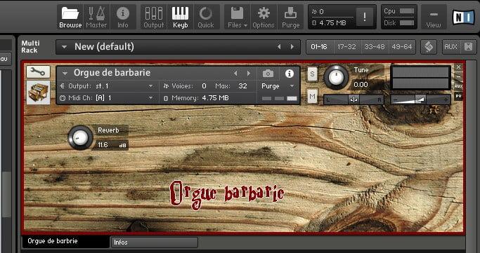 Rossignol Studio Orgue Barbarie