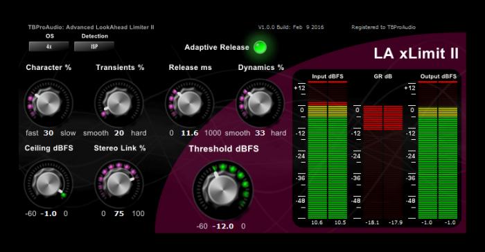 TBProAudio LA xLimit II