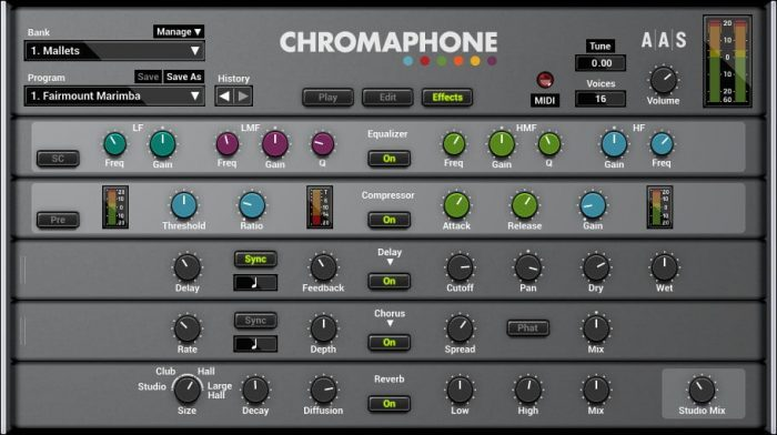 AAS Chromaphone 2 effects