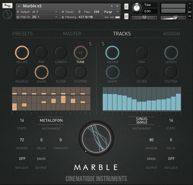 Cinematique Instruments Marble tracks