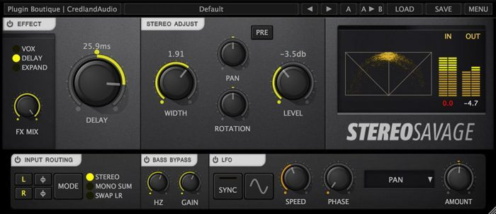 Plugin Boutique Stereo Savage screen