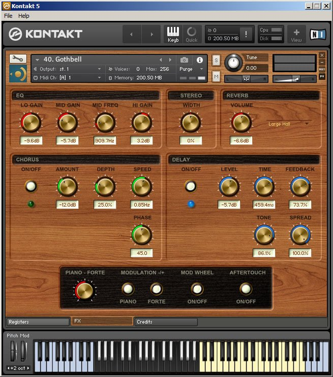 Precisionsound Royal Reed Organ Kontakt 2