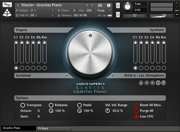 Audio Imperia Klavier interface
