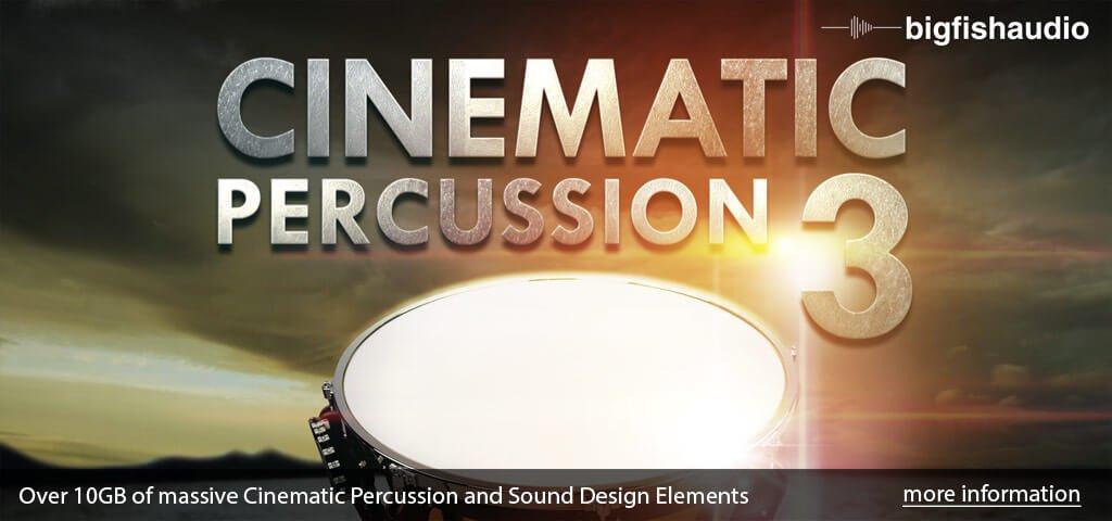 Big fish audio cinematic percussion 3 released for Big fish audio