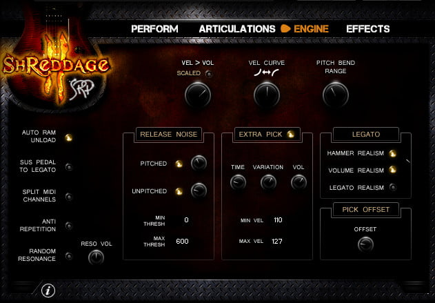 Impact Soundworks Shreddage 2 SRP engine