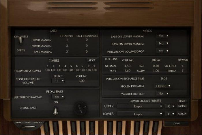 Acousticsamples B-5 Organ advanced tweaking
