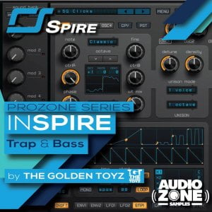 Audiozone Samples InSPIRE Trap & Bass for Spire