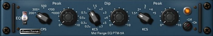 Overtone DSP PTM-5A Vintage Pultec MEQ-5 Plugin