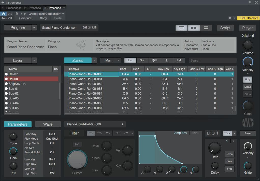PreSonus Presence-XT Editor Main