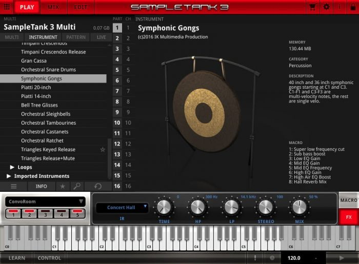 IK Multimedia Orchestral Percussion ST3